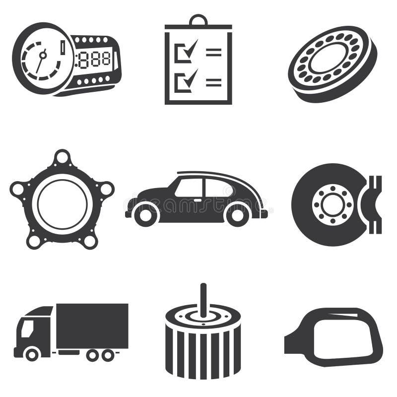 Автомобильные значки иллюстрация штока