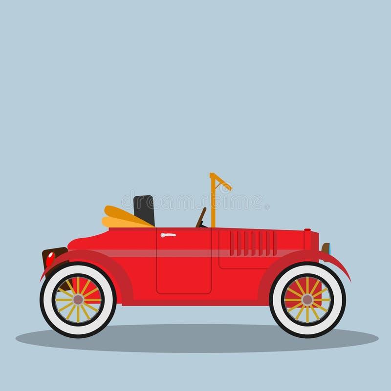 Автомобиль вектора ретро иллюстрация штока