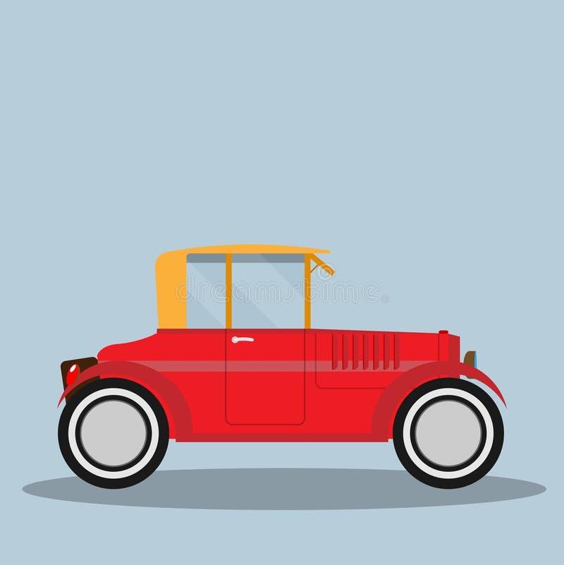 Автомобиль вектора ретро иллюстрация вектора