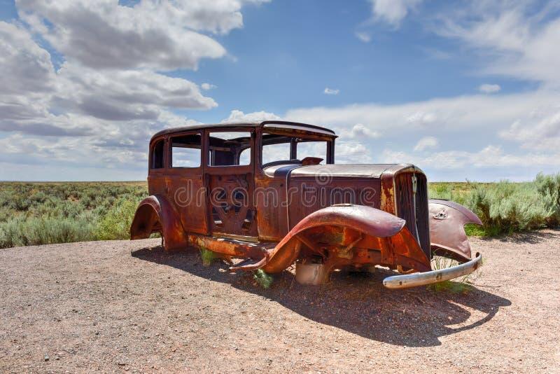 Автомобиль года сбора винограда трассы 66 стоковая фотография