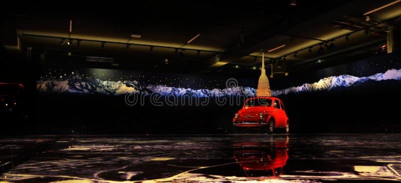 Автомобиль года сбора винограда Фиат 500 стоковые фотографии rf
