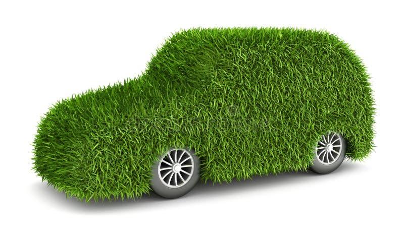 Автомобиль зеленой травы иллюстрация штока