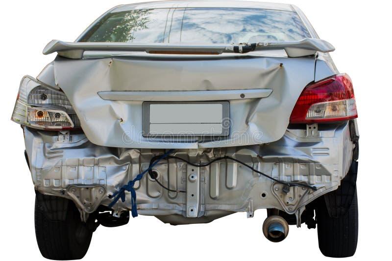 Автомобиль имеет согнутый задний бампер стоковая фотография
