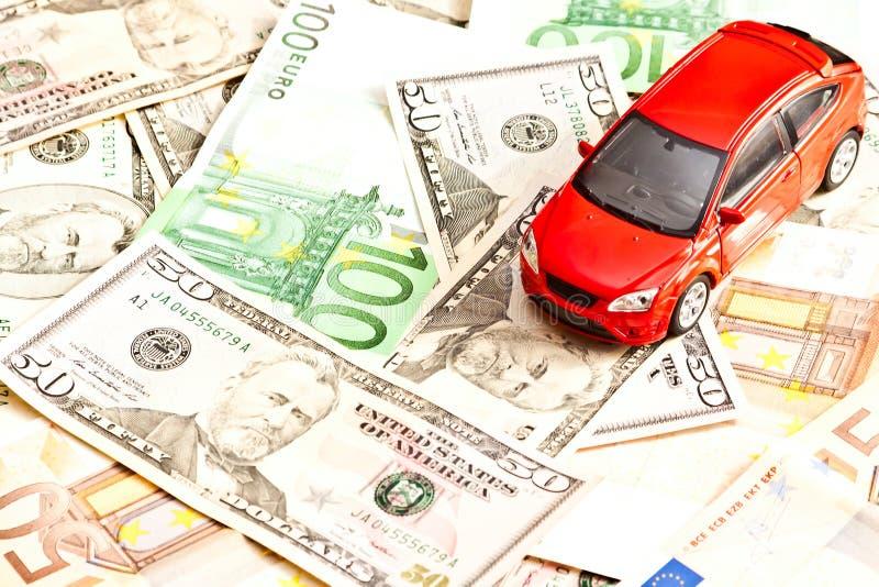 Автомобиль и деньги стоковые фотографии rf