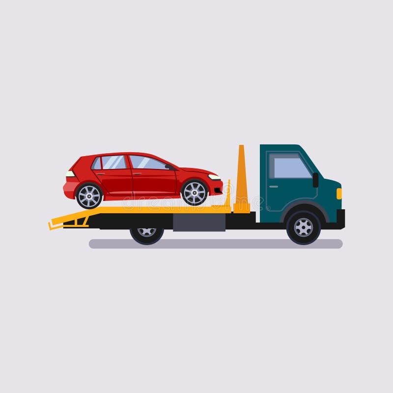 Автомобиль иллюстрации эвакуатора помощи обочины бесплатная иллюстрация