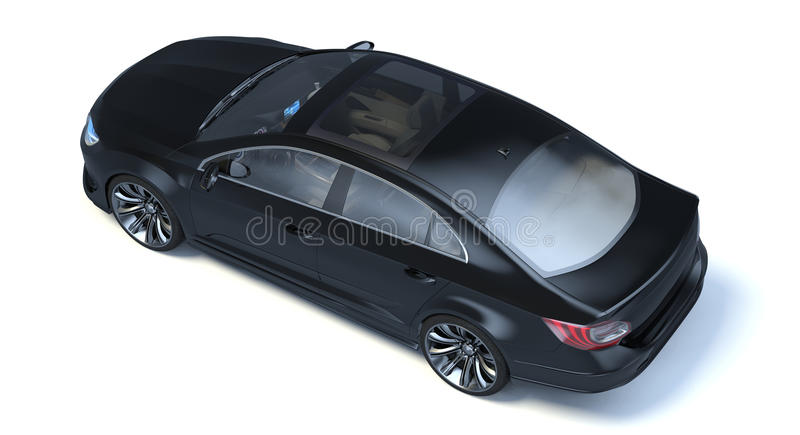 Автомобиль концепции седана 3d бесплатная иллюстрация