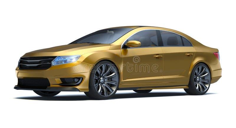Автомобиль концепции седана 3d иллюстрация штока