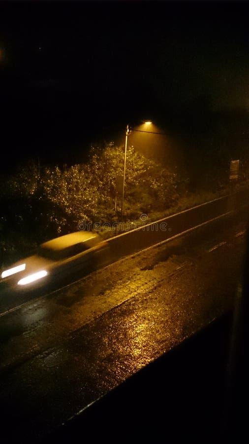 Автомобиль над дождем стоковые изображения rf