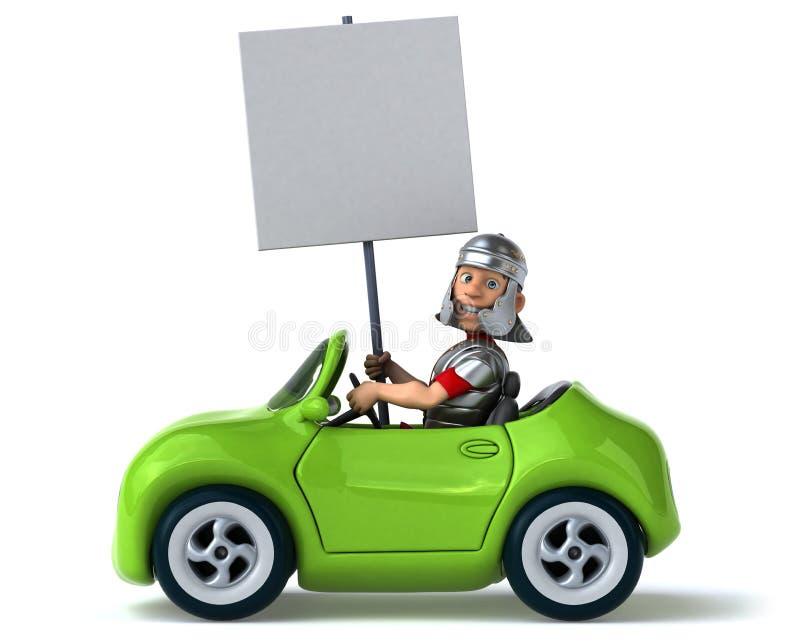 Автомобиль потехи иллюстрация штока