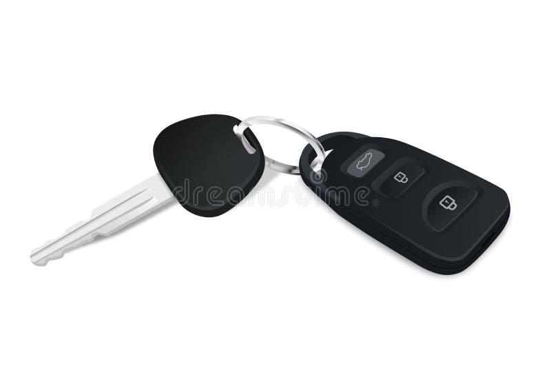 Автомобиль пользуется ключом вектор иллюстрация вектора