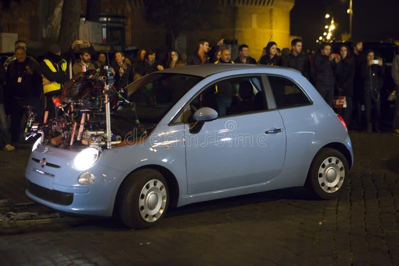 Автомобиль 007 призраков (Craig & Bellucci 2015) специальный на комплекте Италия rome стоковые фото