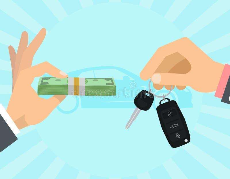 Автомобиль продавая принципиальную схему бесплатная иллюстрация