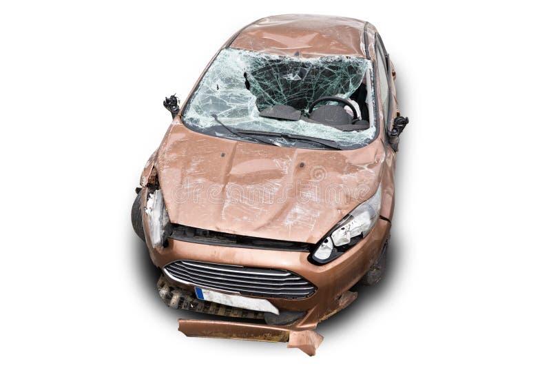 Автомобиль развалины стоковое фото rf