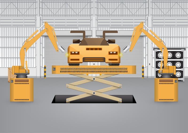 Автомобиль робота бесплатная иллюстрация