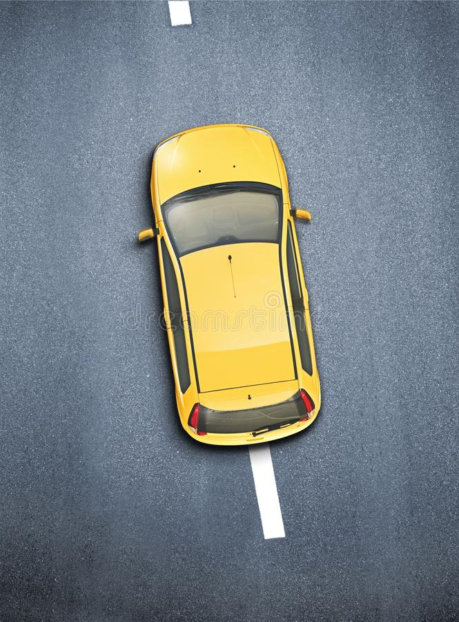 Автомобиль снятый сверху стоковые фото