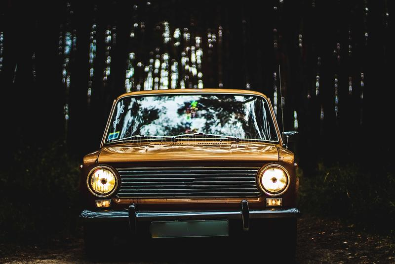 Автомобиль советских автомобилей времен стоковые фото