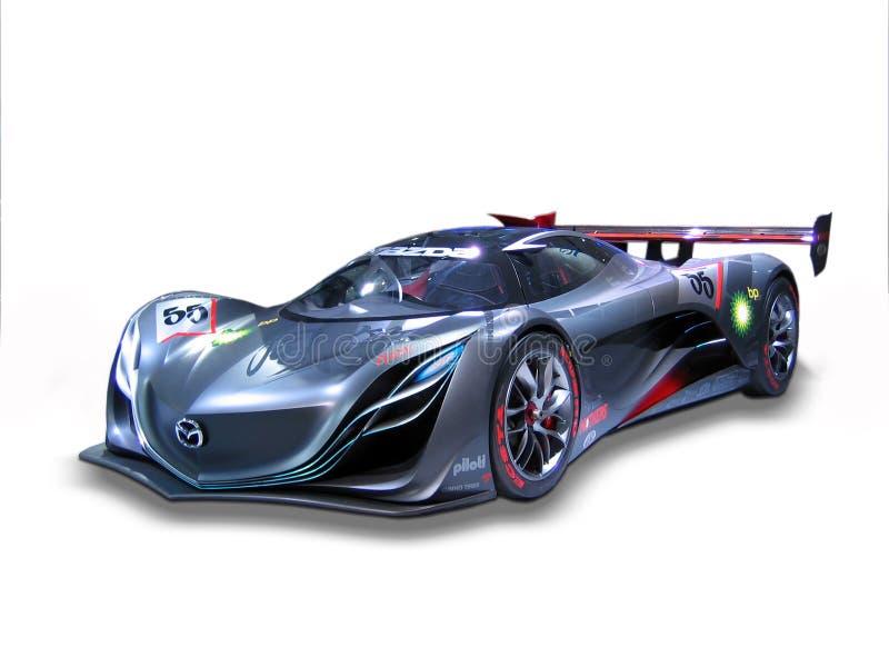 Автомобиль спорт концепции Mazda Furai изолированный на белизне стоковое изображение rf