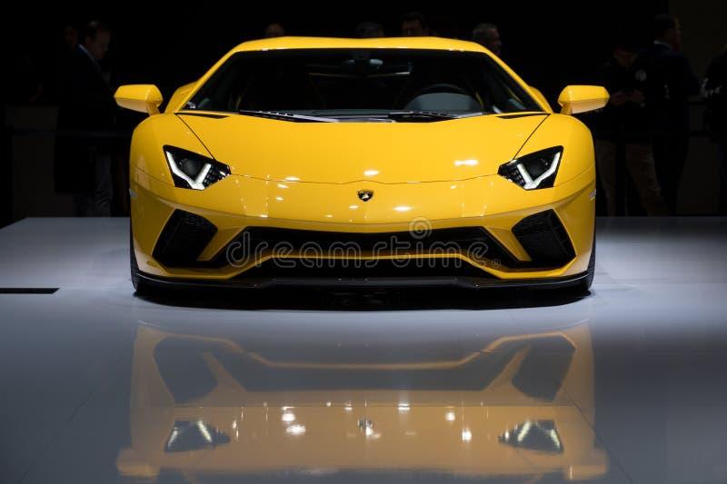 Автомобиль спорт Lamborghini Aventador s стоковое изображение rf