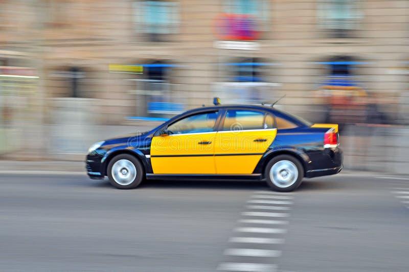 Автомобиль такси, Барселона стоковая фотография rf