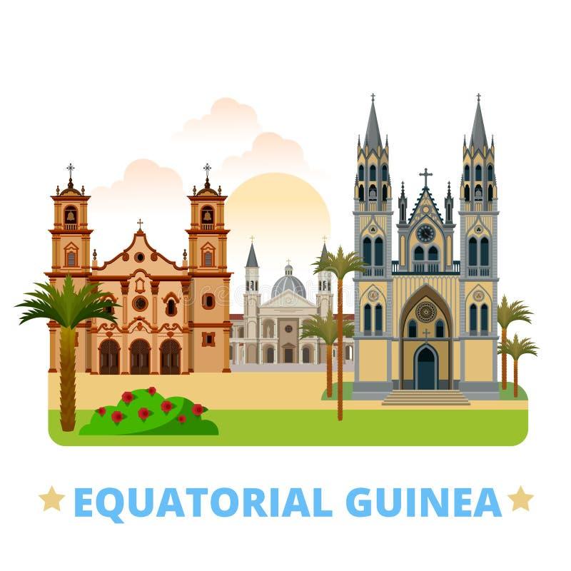 Автомобиль шаблона дизайна страны Экваториальной Гвинеи плоский иллюстрация штока