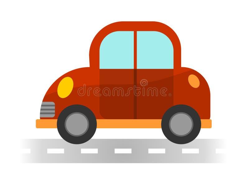 Автомобиль шаржа на белой предпосылке стоковое изображение rf
