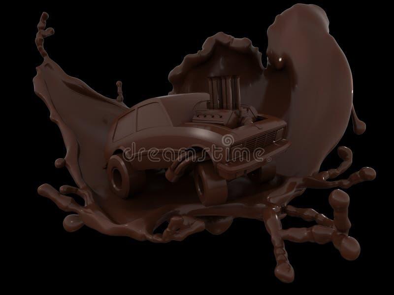Автомобиль шоколада, автомобиль шаржа шоколада стоковая фотография rf