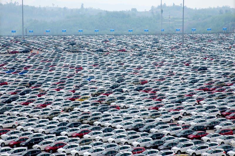 Автомобиль Co Changan Форда , поле перехода корабля 2 автомобилей фабрики стоковые фотографии rf