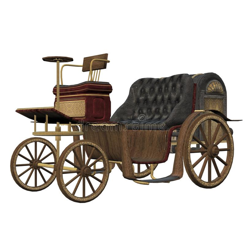 Автомобиль Steampunk стоковое изображение