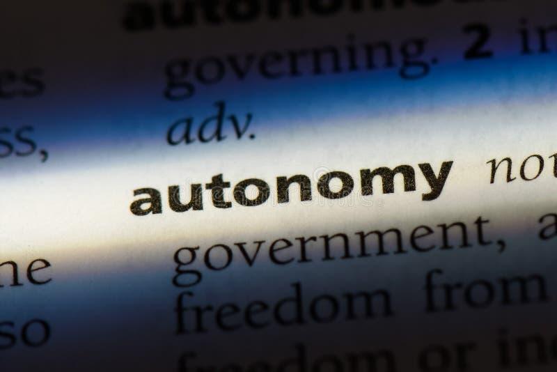 автономии стоковые изображения rf