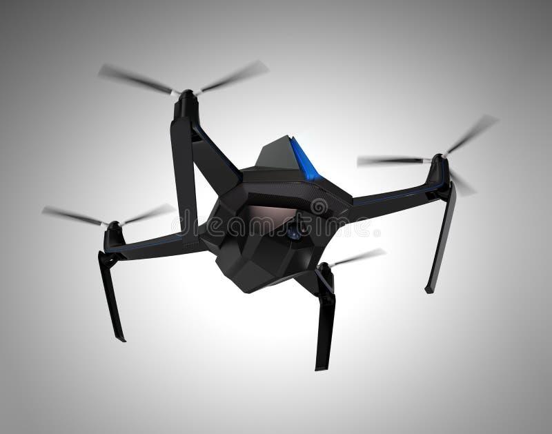 Автономный беспилотный трутень с камерой слежения бесплатная иллюстрация