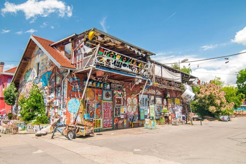 Автономный культурный центр Metelkova, Любляна, Словения стоковое фото rf