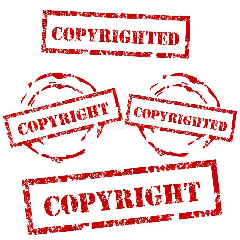 авторское право штемпель комплекта бесплатная иллюстрация