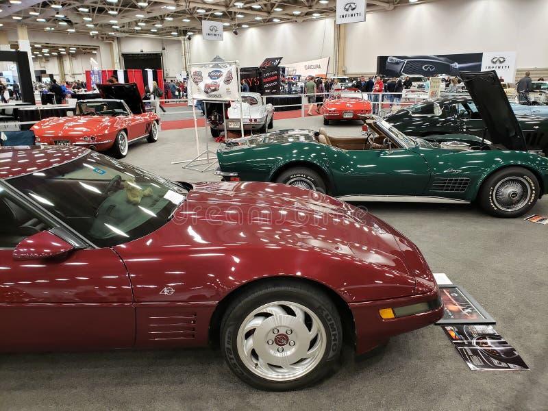 Автосалон DFW в городе Даллас TX США 2019 стоковые фото