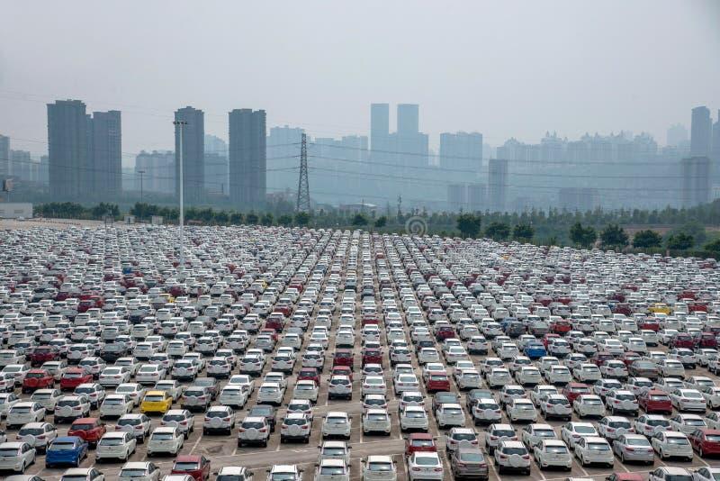 Автостоянка автомобиля товаров автомобиля Changan Форда стоковые изображения rf