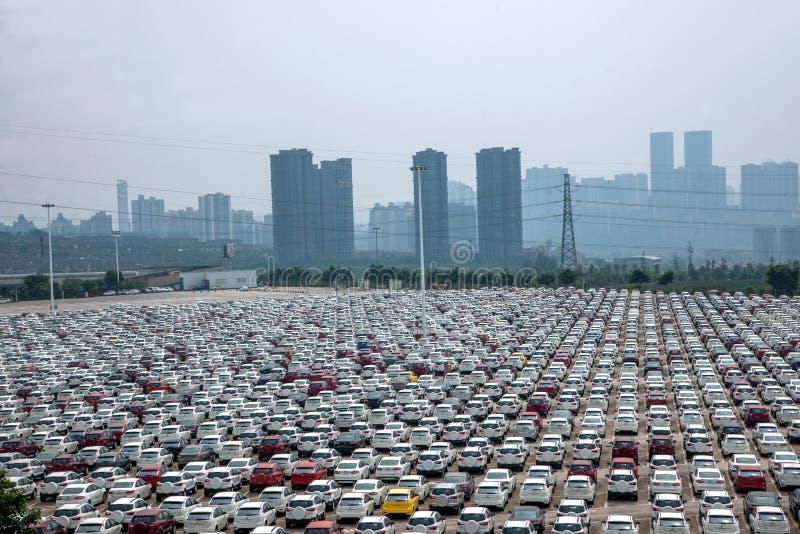 Автостоянка автомобиля товаров автомобиля Changan Форда стоковые изображения