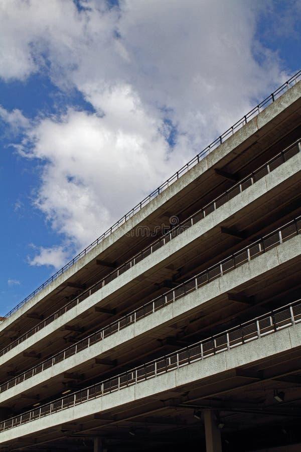 Автостоянка в Манчестере стоковая фотография rf