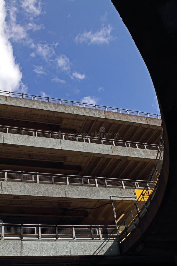 Автостоянка в Mancester стоковые фотографии rf