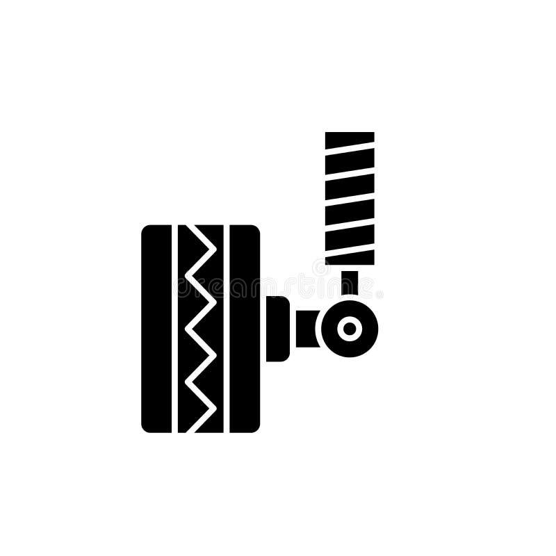 Автошина приспосабливая черный значок, знак вектора на изолированной предпосылке Символ концепции автошины приспосабливая, иллюст бесплатная иллюстрация