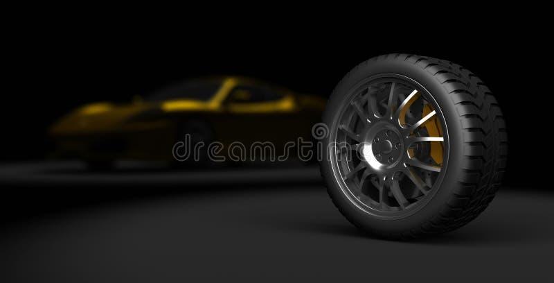 автошина спорта 3d стоковая фотография