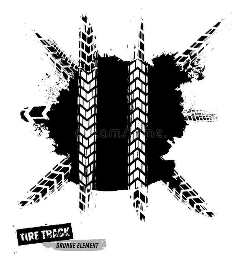 Автошина Banner-20 Grunge иллюстрация вектора