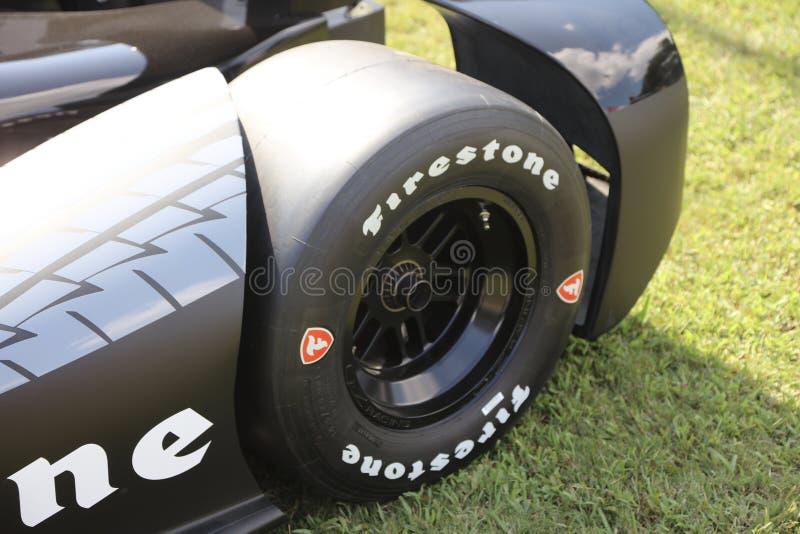 Автошины гонки Firestone стоковое фото