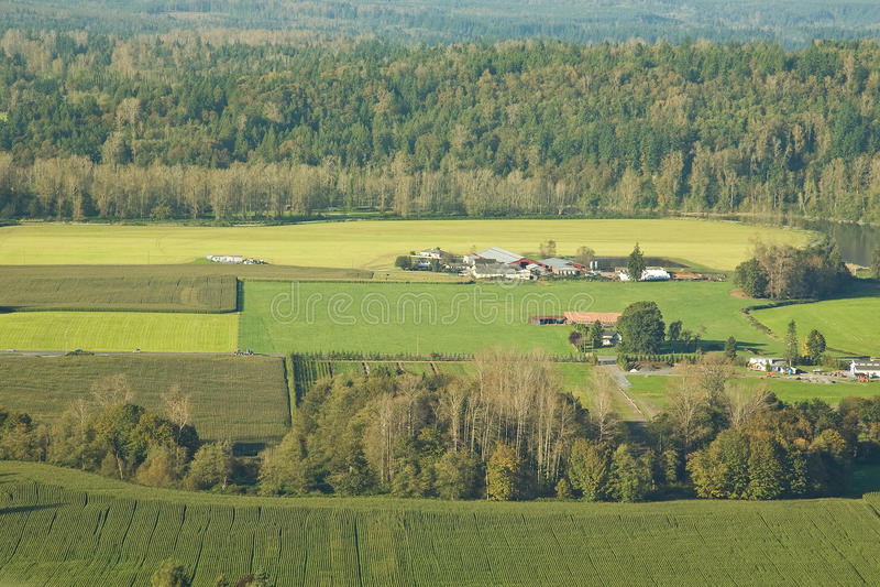 аграрное сельскохозяйственное угодье стоковая фотография rf