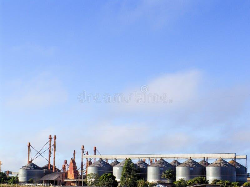 аграрное силосохранилище стоковое изображение