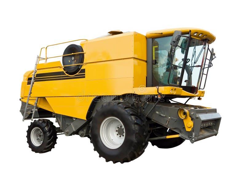 аграрный желтый цвет жатки стоковые изображения rf