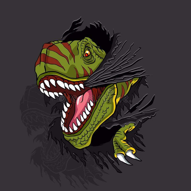 Агрессивное rex t иллюстрация штока