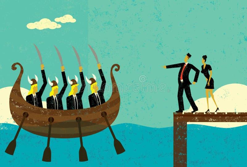 Агрессивные новые конкуренты бесплатная иллюстрация
