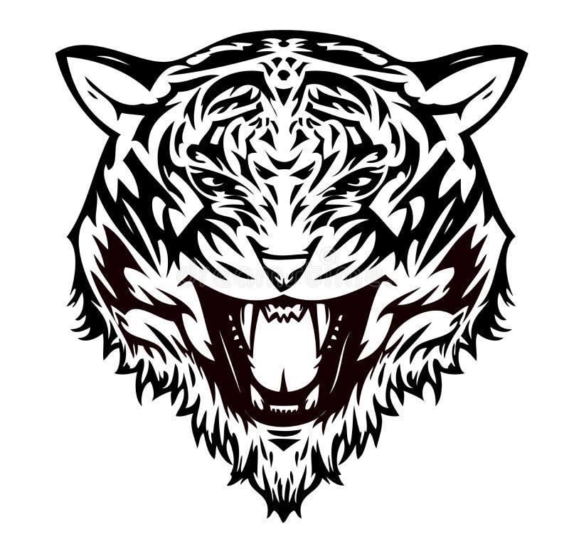 агрессивныйый тигр кота иллюстрация штока