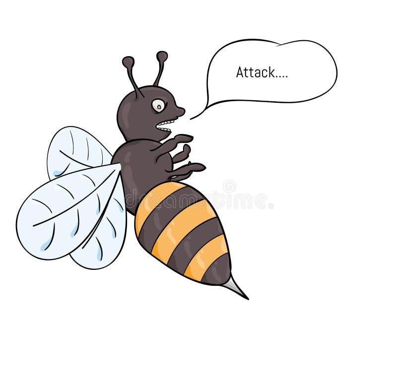 Агрессивный атаковать оси иллюстрация вектора