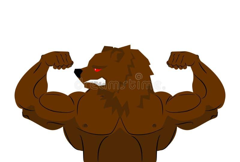 современной жизни, медведь с мускулами картинка проблема