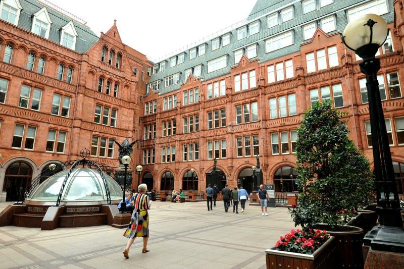 Адвокатуры Holborn, или благоразумное обеспечение строя красное терракотовое викторианское здание стоковое фото